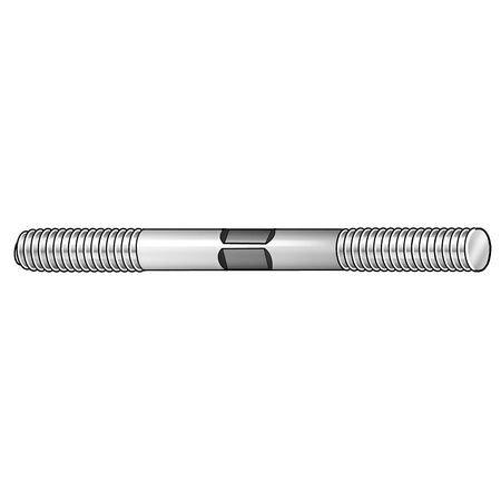 "TE-CO 3/4""-10 x 5-1/2"" Black Oxide Medium Carbon Steel Double End Threaded Stud, 40906"