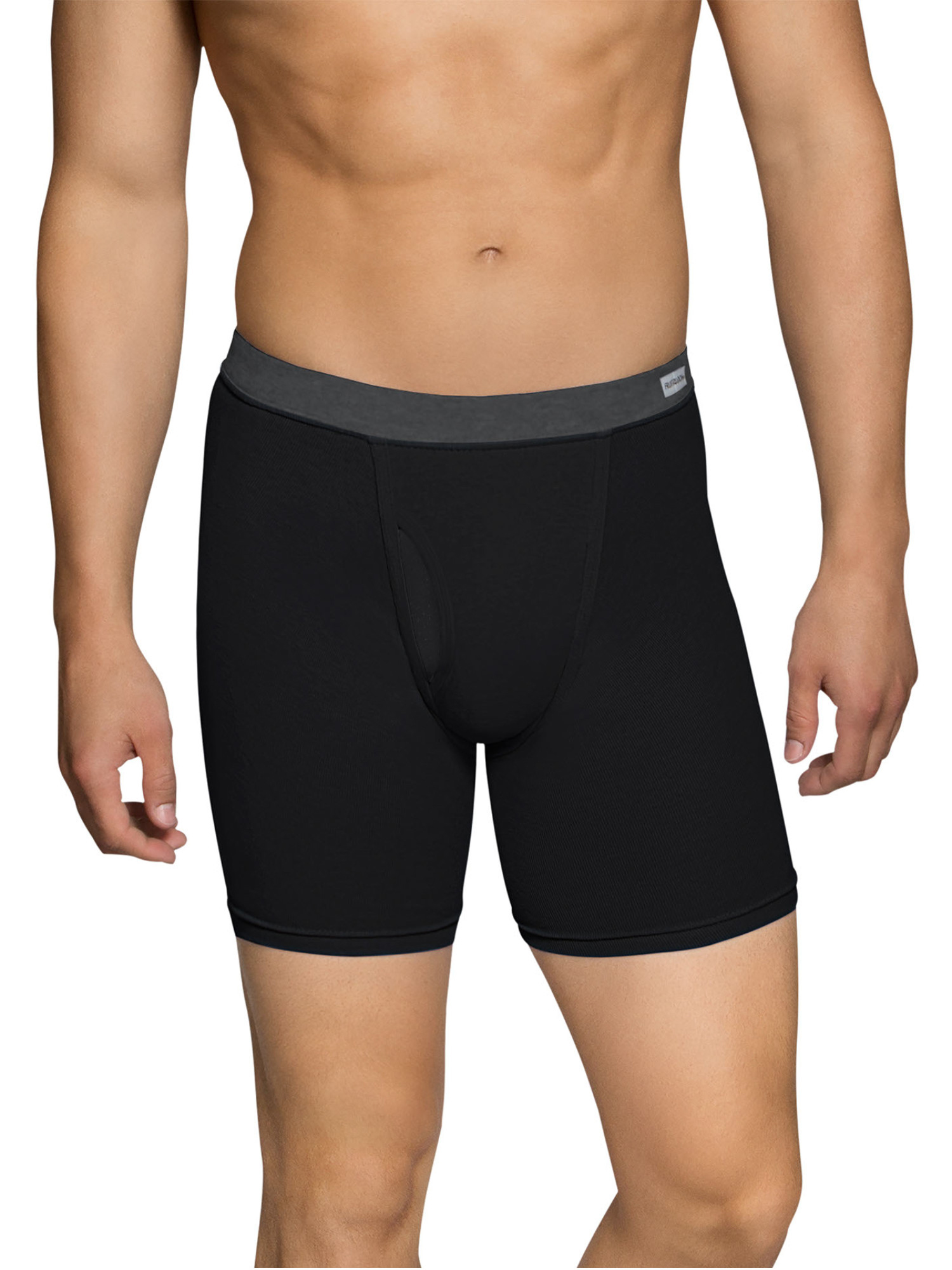 Big Men's CoolZone Fly Dual Defense Covered Waistband Boxer Briefs, Extended Sizes, 4 Pack