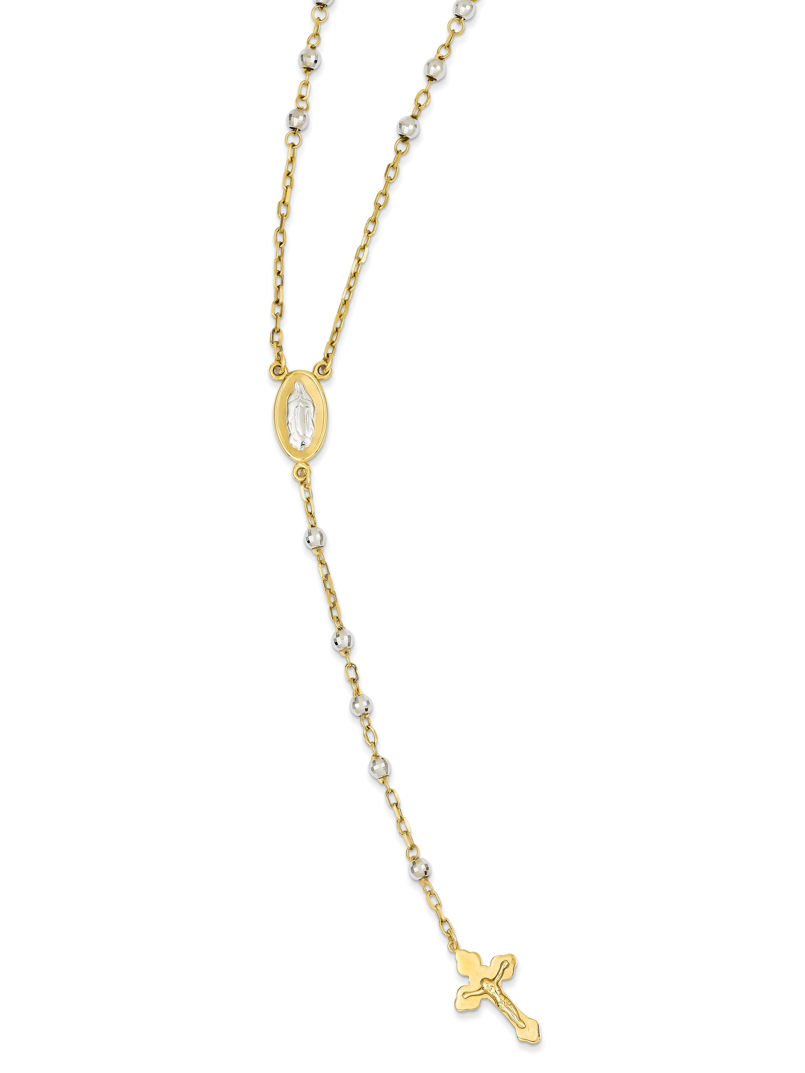 16298602e Roy Rose Jewelry 14k Two Tone Gold Rosary Necklace