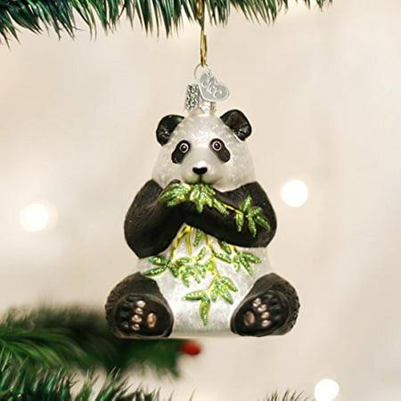 Old World Christmas Panda Glass Blown Ornament - Panda Ornament