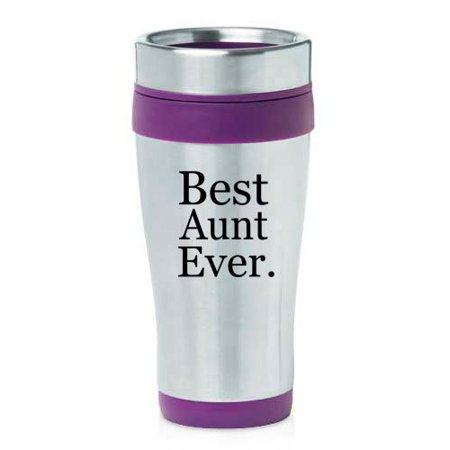 16oz Insulated Stainless Steel Travel Mug Best Aunt Ever