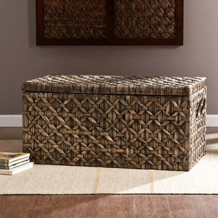 - Diamond Weaved Water Hyacinth Storage Trunk