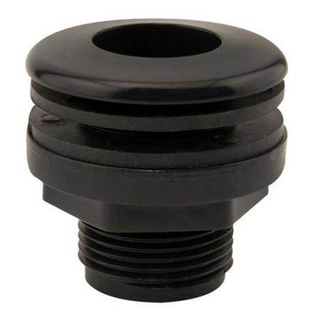 hydro flow bulkhead thread / thread 1/2 in hole size 1-1/8 in (box of (Flow Bulkhead)