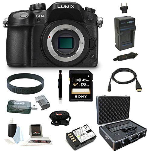 Panasonic LUMIX DMC-GH4K DMC-GH4KBODY GH4 16.05MP Digital Single Lens Mirrorless Camera (Body) + Sony 128GB... by Panasonic