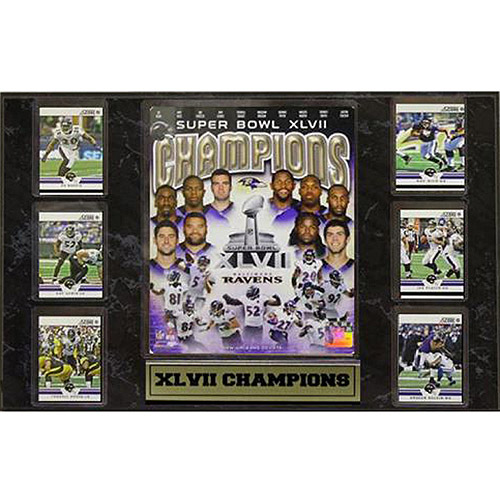 NFL Baltimore Ravens 6-Card Plaque, 13x20