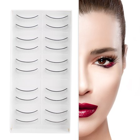 ANGGREK 10 Pairs Self-Adhesive  Fake Eyelashes 3 Magnets Fiber False Lashes, Ultra Thin Lightweight Natural Look No glue, Best 3D Reusable Eyelashes (Best Eyeliner For Lash Extensions)