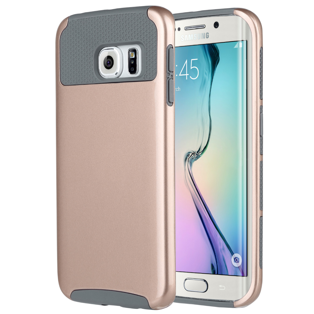 "ULAK Galaxy S6 Edge Case, 2 in 1 Hybrid Dual Layer Protective Slim Case Cover for Samsung Galaxy S6 Edge (5.1"" inch) 2015 Release"