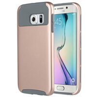 """ULAK Galaxy S6 Edge Case, 2 in 1 Hybrid Dual Layer Protective Slim Case Cover for Samsung Galaxy S6 Edge (5.1"""" inch) 2015 Release"""