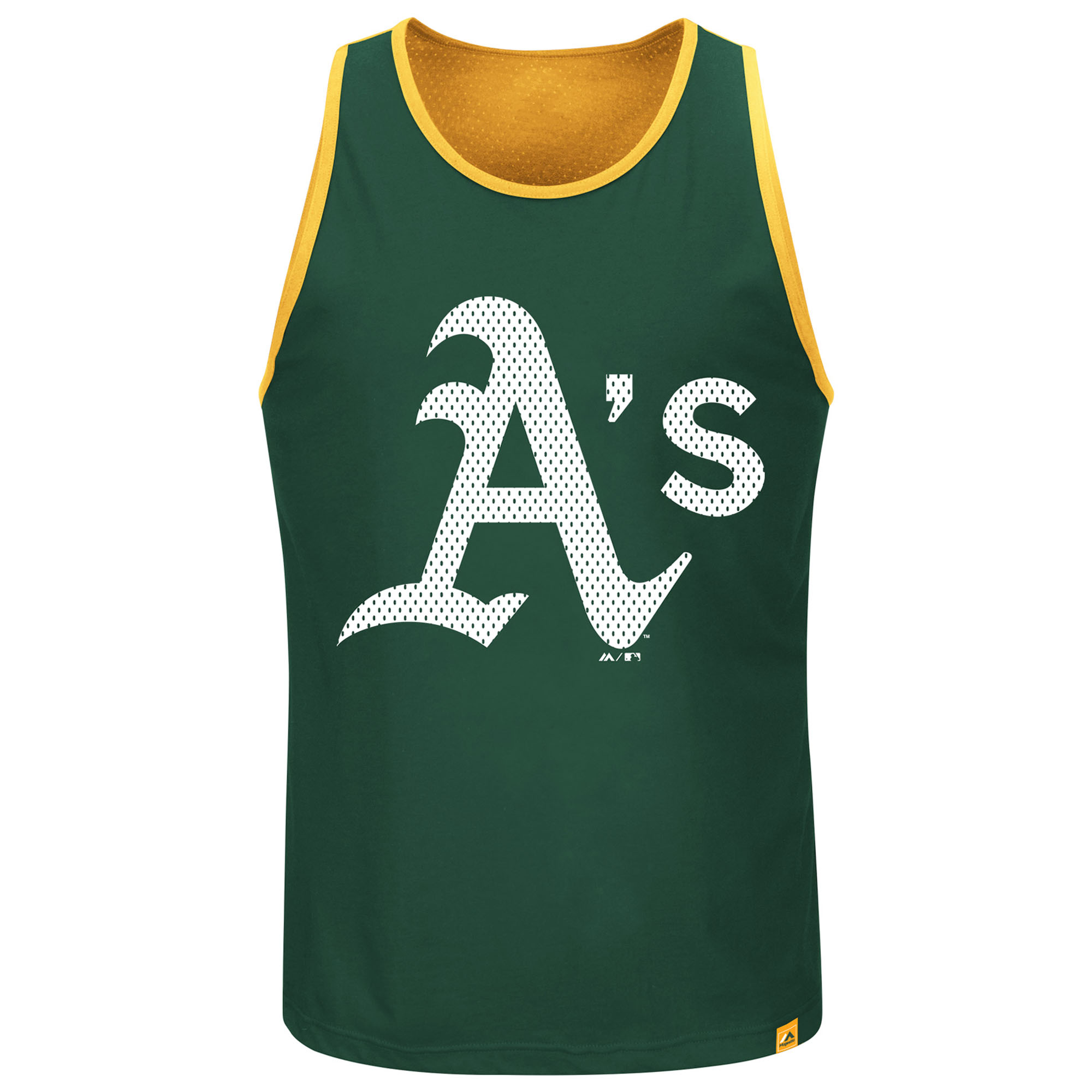 Oakland Athletics Majestic All Last Season Tank Top - Green