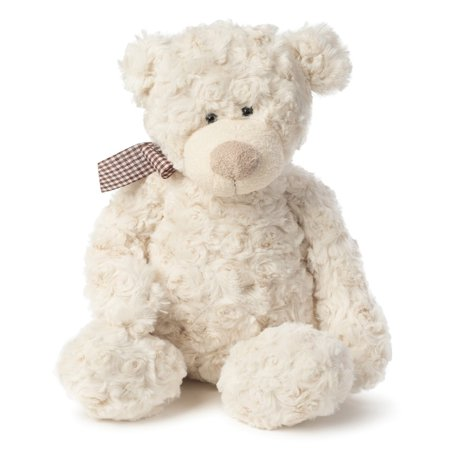 Joon Freddy Rosy Plush Teddy Bear, Cream, 12 Inches