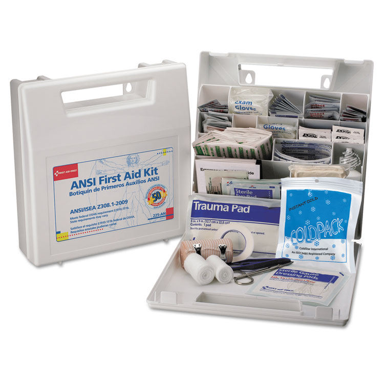 First Aid Only First Aid Kit for 50 People, 196-Pieces, OSHA/ANSI Compliant, Plastic Case - FAO225AN