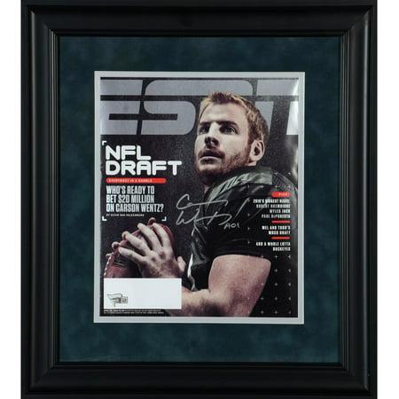 Carson Wentz Philadelphia Eagles Framed Autographed 2016 NFL Draft ESPN Magazine - Fanatics Authentic Certified ()
