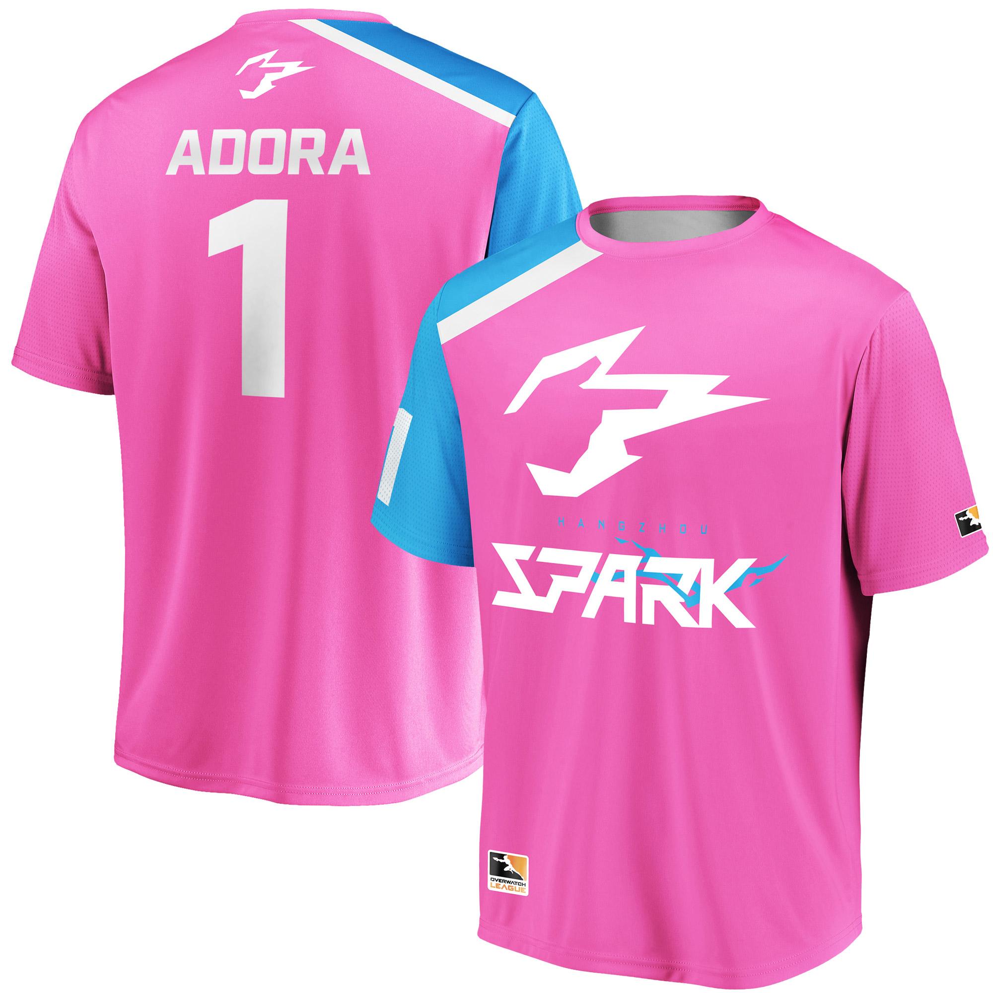 Adora Hangzhou Spark Overwatch League Replica Home Jersey - Pink