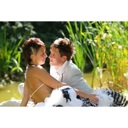 LAMINATED POSTER Couple In Love Wedding Photo Wedding Romantic Love Poster Print 24 x 36 (Couple Photo)