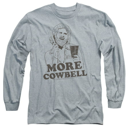SNL/ILLUSTRATED COWBELL-L/S ADULT 18/1-ATHLETIC HEATHER-SM