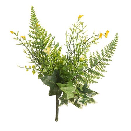 Add a forest feel to your faux floral arrangements with this mixed fern pick. Its green and yellow color scheme works great with brightly colored (Fern Pick)