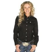 Cinch Apparel Womens  Black Button Up Shirt