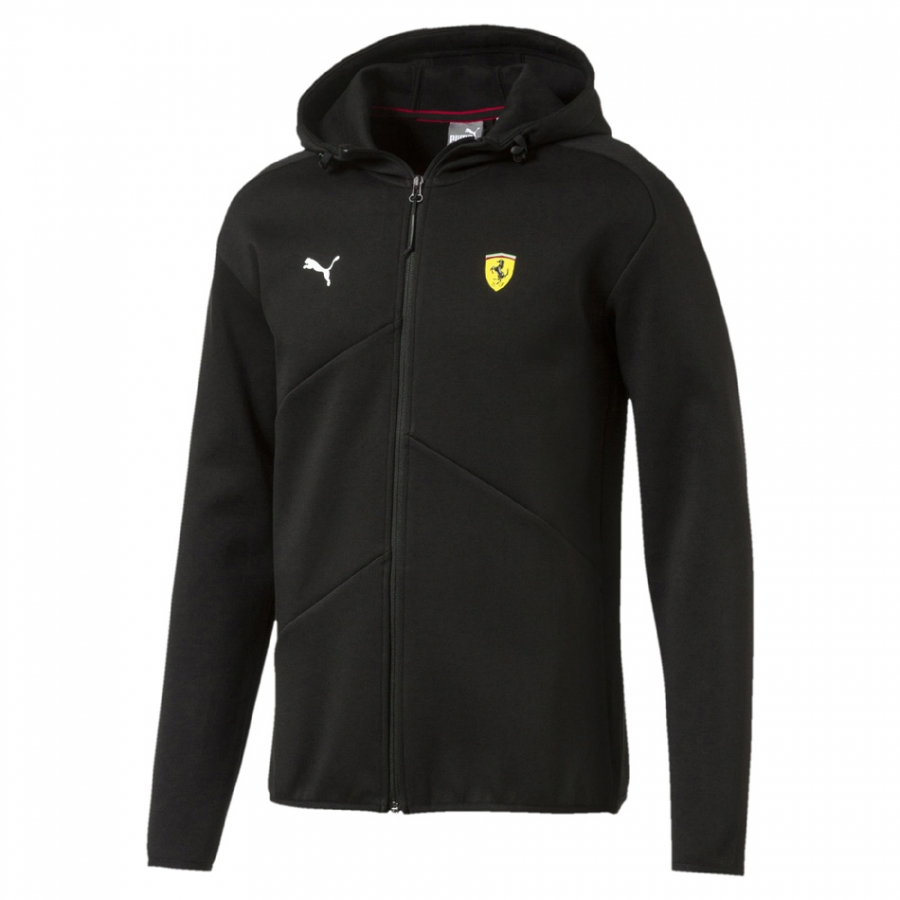 Puma Ferrari SF Black Hooded Sweat Jacket