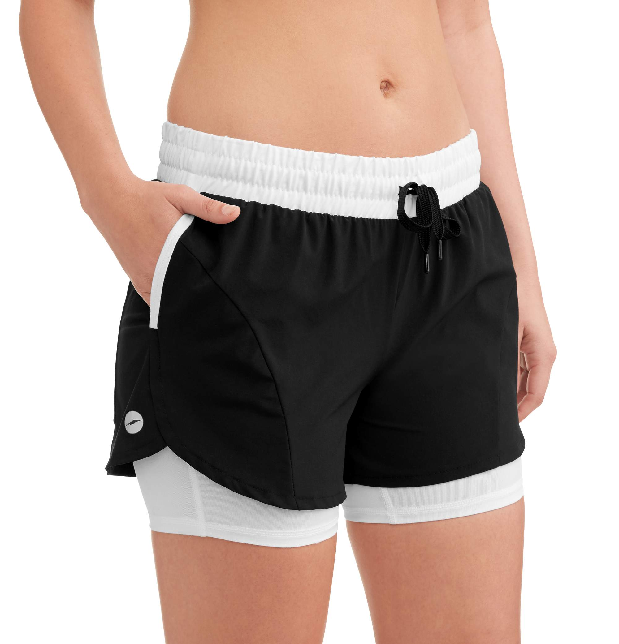 Avia Women's Core Active 2fer Woven Running Short with Pockets