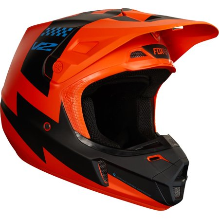 Fox V2 Mastar Helmet (Orange, Medium) (Fox V2 Race)