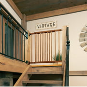 Evenflo Farmhouse Collection Walk Thru Top-of-Stairs Gate