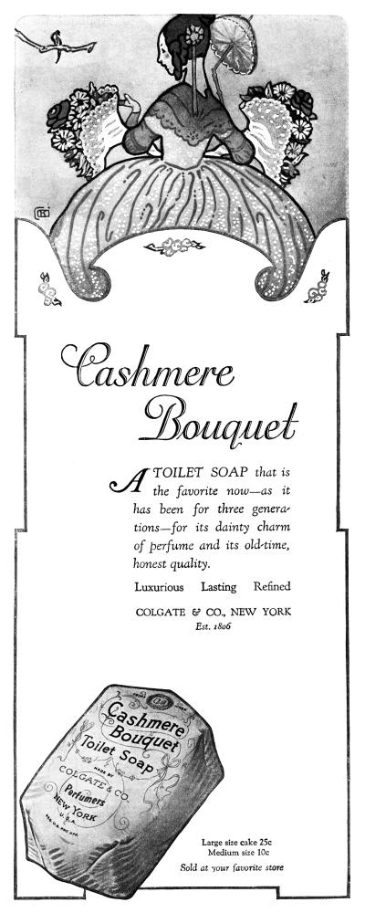 COLGATE /& CO/'S CASHMERE BOUQUET vintage ad poster FLOWERS SCENT 24X36 new
