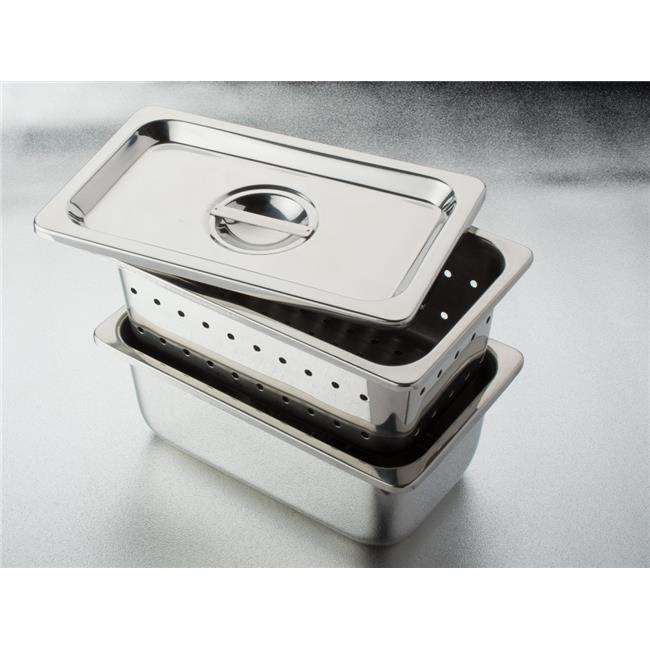 """DDI 2169589 Stainless Steel Tray w/o Cover 10-1/4"""" x 6-1/4"""" x 4"""""""
