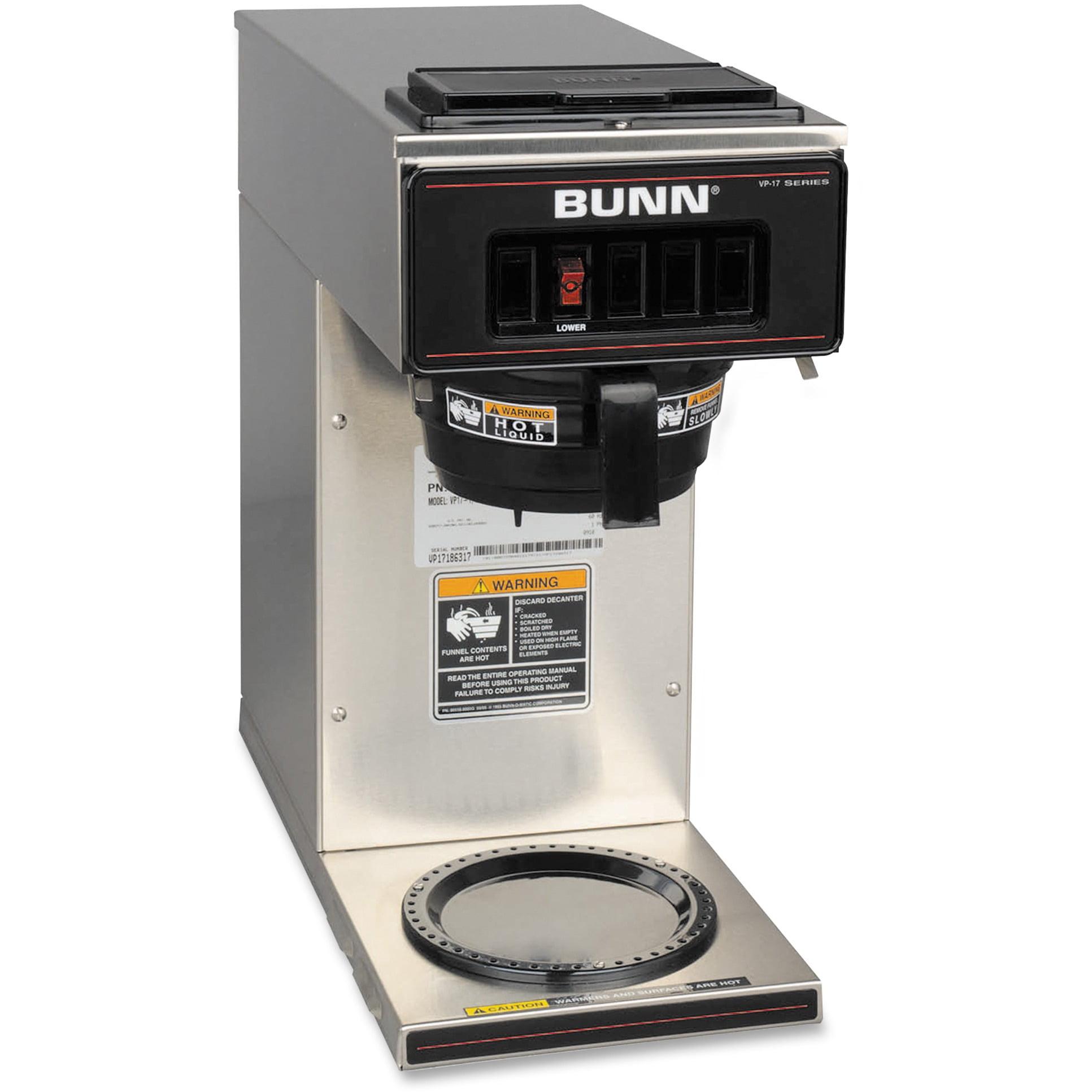 BUNN VP17-1 Coffee Brewer, Stainless Steel, Black Funnel