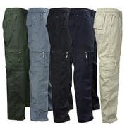 Men Pants Man Stretchy Summer Cargo Combat 7 Pockets Lightweight Work Pants