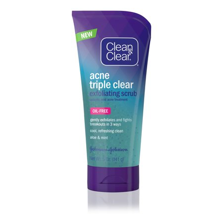 Clean & Clear Acne Triple Clear Exfoliating Facial Scrub, 5 oz ()