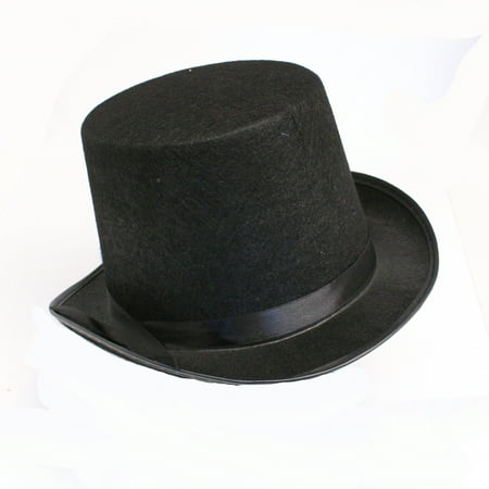 Black Felt Top Hat - Black Birthday Party Hats