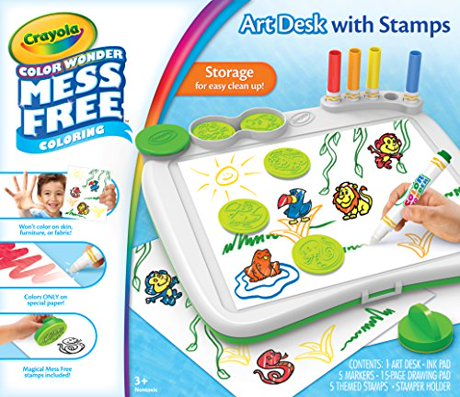 Crayola Color Wonder Mess-Free Art Desk With Stamps,Coloring Board