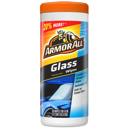Armor All Glass Wipes, 30 ct, Car Cleaning, Auto (Best Car Glass Wipes)
