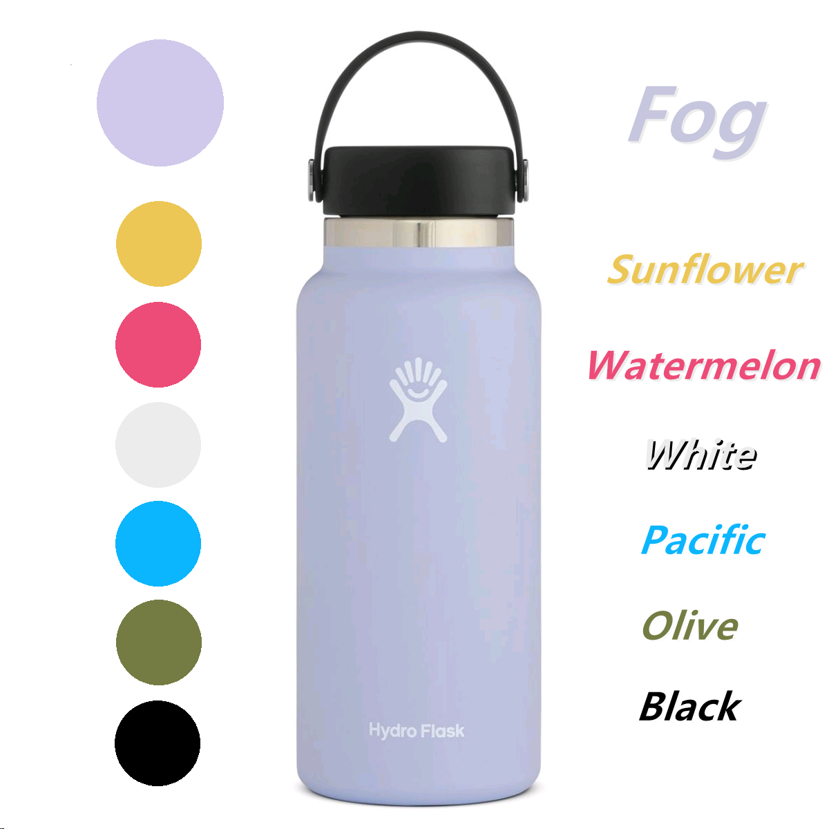 Compatible with All Water Bottles with a Bottom Width of 2.87-3.56in BOGI 2Pack Protective Silicone Bottle Boot for 20-40oz Flask Sport Water Bottle BPA Free Anti-Slip Bottom Silicone Sleeve Cover