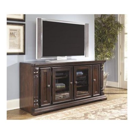 """size 40 c2f35 a2261 Ashley Key Town W668-22 63"""" Wide TV Stand with Framed ..."""