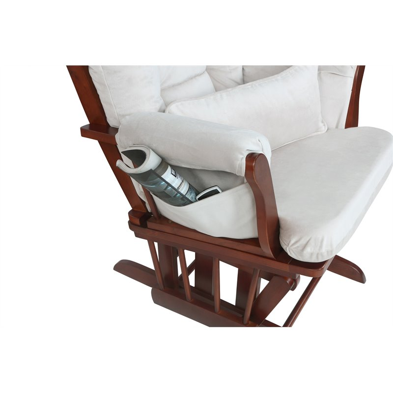 AFG Baby Furniture Alice Glider Chair /& Ottoman Without Pillow White