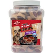 Purina ALPO T-Bonz Filet Mignon Flavor Steak-Shaped Dog Treats 40 oz. Canister