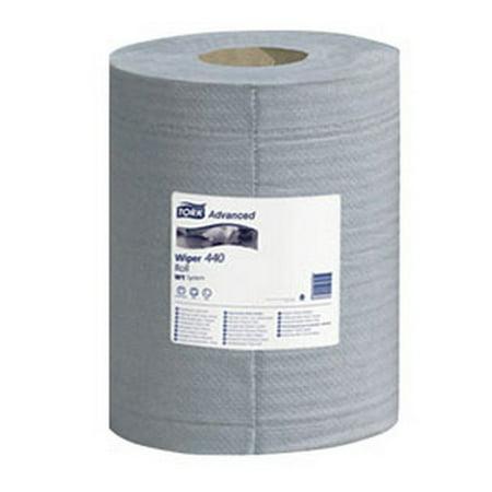 Tork Wiper - Tork 132451 4-Ply Advanced 440 Center Pull Wiper - Blue, 10