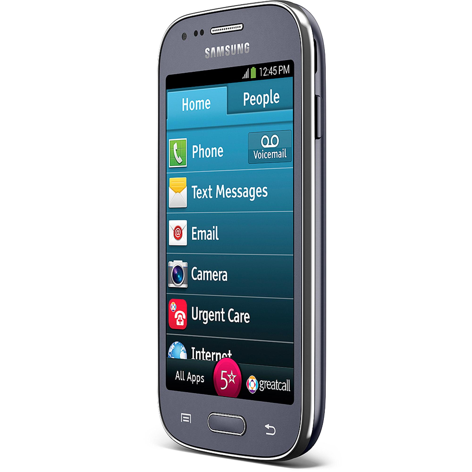 GreatCall Jitterbug Touch3 8GB Unlocked Smartphone, Gray