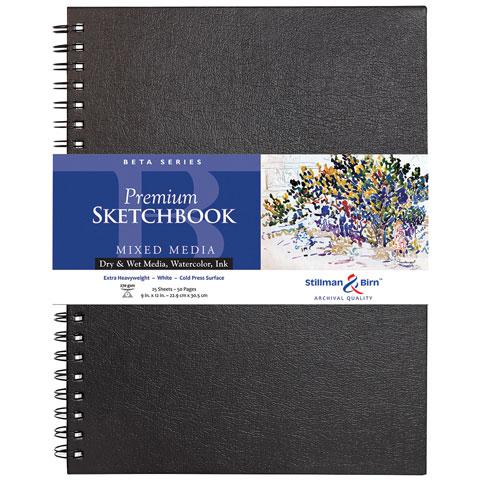 """Stillman & Birn - Beta Series Premium Hard-Bound Sketch Book - 7"""" x 7"""""""