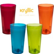 a7495bc55997 Reusable Plastic Cup Drinkware Tumblers - 4 Assorted colors break resistant  20 oz dishwasher safe drinking