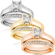 Annello  by Kobelli 14k Gold 3/4ct TDW Diamond Solitaire Ring Bridal Ring Set (G-H, I1)