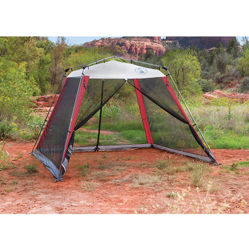 Coleman 10u0027x10u0027 Slant Leg Instant Canopy/Screen House (100 sq. ft Coverage) - Walmart.com  sc 1 st  Walmart & Coleman 10u0027x10u0027 Slant Leg Instant Canopy/Screen House (100 sq. ft ...