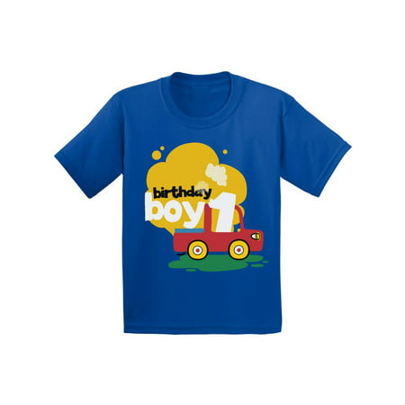 Awkward Styles Birthday Boy Infant Shirt Toy Truck Tshirt For Baby 1st Party Gifts 1 Year Old First Outfit