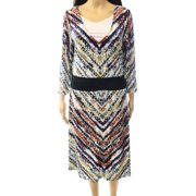 Miraclesuit NEW White Ivory Women's Size 16 Layered Printed Sheath Dress