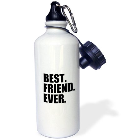 3dRose Best Friend Ever - Gifts for BFFs and good friends - humor - fun funny humorous friendship gifts, Sports Water Bottle, (Good Friends And A Bottle Of Pills)