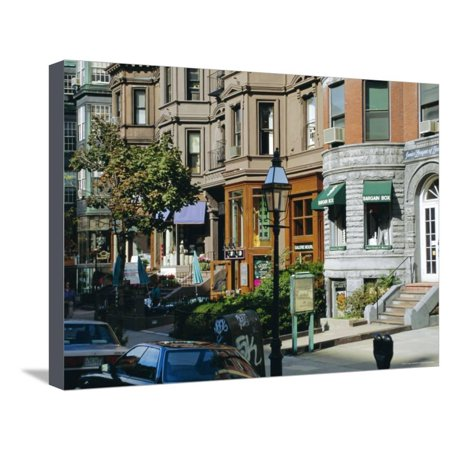 Newbury Street, Boston's Premier Shopping Street, Back Bay, Boston, Massachusetts, USA Stretched Canvas Print Wall Art By Fraser (Newbury Boston Stores)