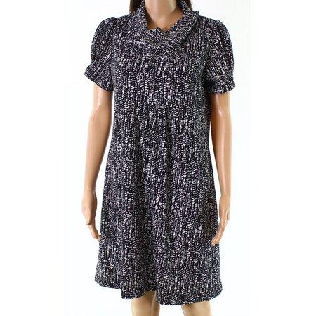 Jessica Howard NEW Black Womens Size Medium PM Petite Shift Dress