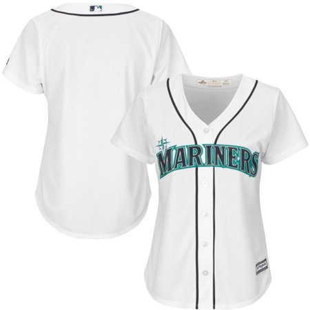 Seattle Mariners Authentic Alternate Jersey (Seattle Mariners Majestic Women's Cool Base Jersey - White)