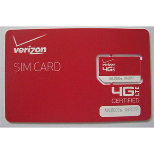 Verizon Wireless RETAILSIM4G-A Vzncel Sim 2ff 4g Lte